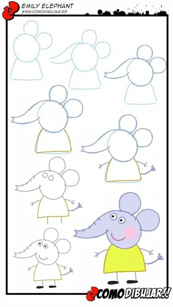 小猪佩奇全系列简笔画教程,孩子不爱都难