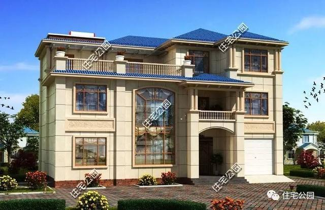 4套土豪金农村别墅,把邻居地换过来就40万建一套