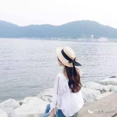 2017微信小清新头像女,海边唯美头像