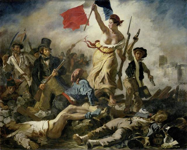 强奸�9la_欧仁·德拉克罗瓦 eugène delacroix   自由引导人民 la liberté