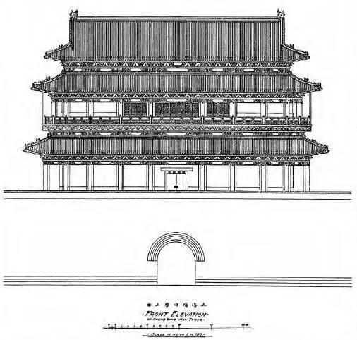 历史 正文  城门建筑手绘图纸,以及实地拍摄的 二百余幅老北京城墙和