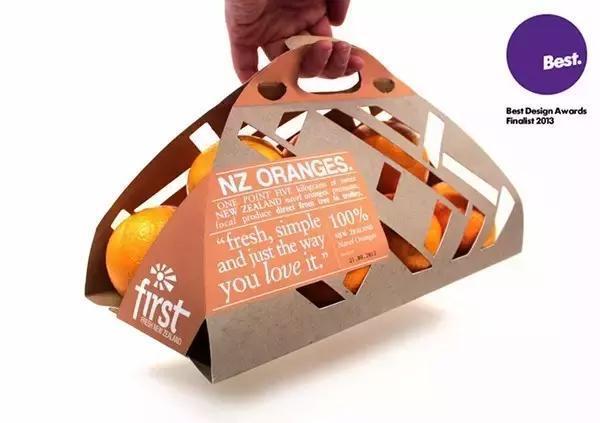 这款水果贴纸的包装颜色很有心, 内部三角小包装莫名联想到.