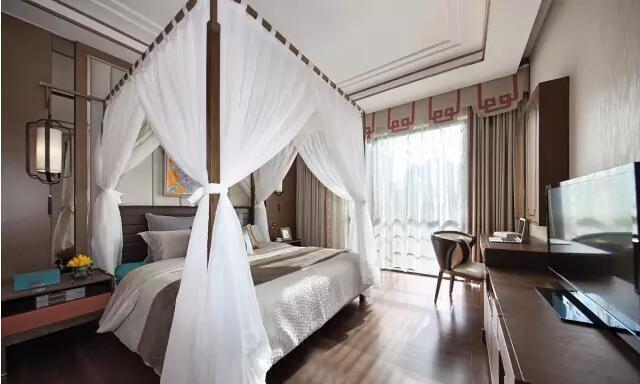 140平新中式风格,沙发背景墙超有个性,人见人夸---主卧