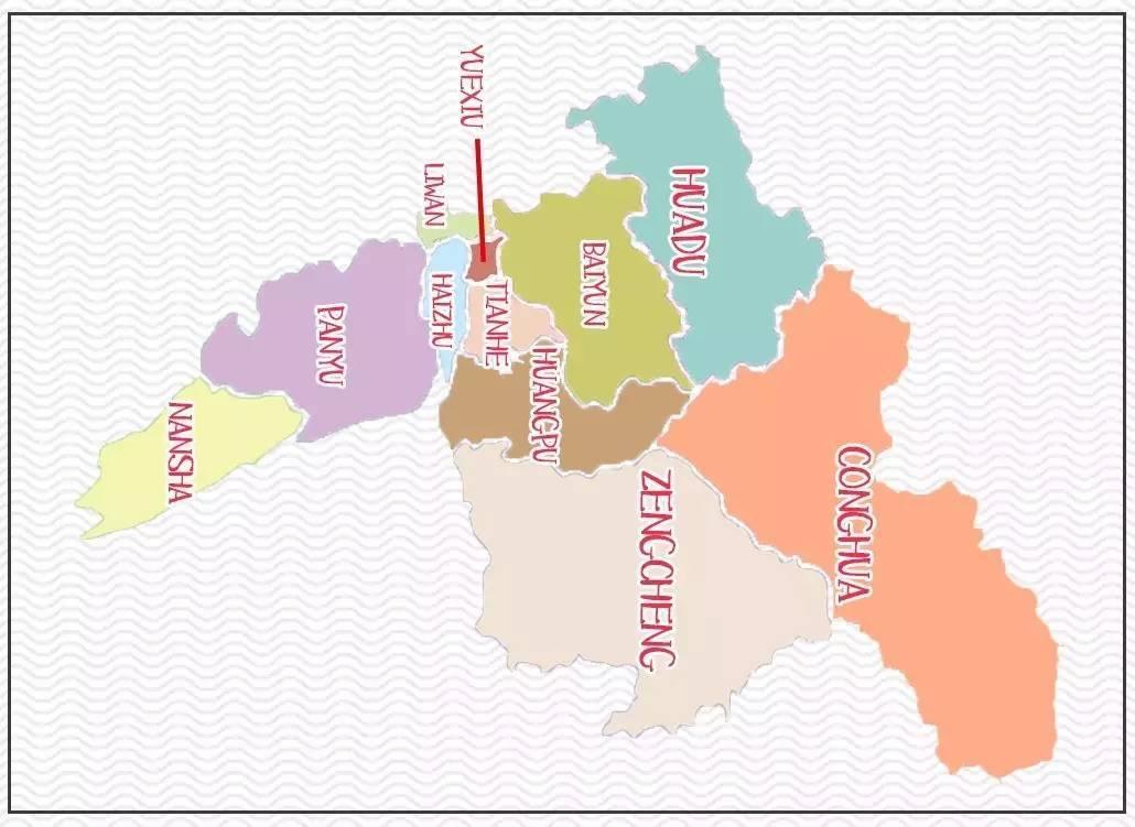 有人把广州地图画成这样,刷爆了朋友圈!