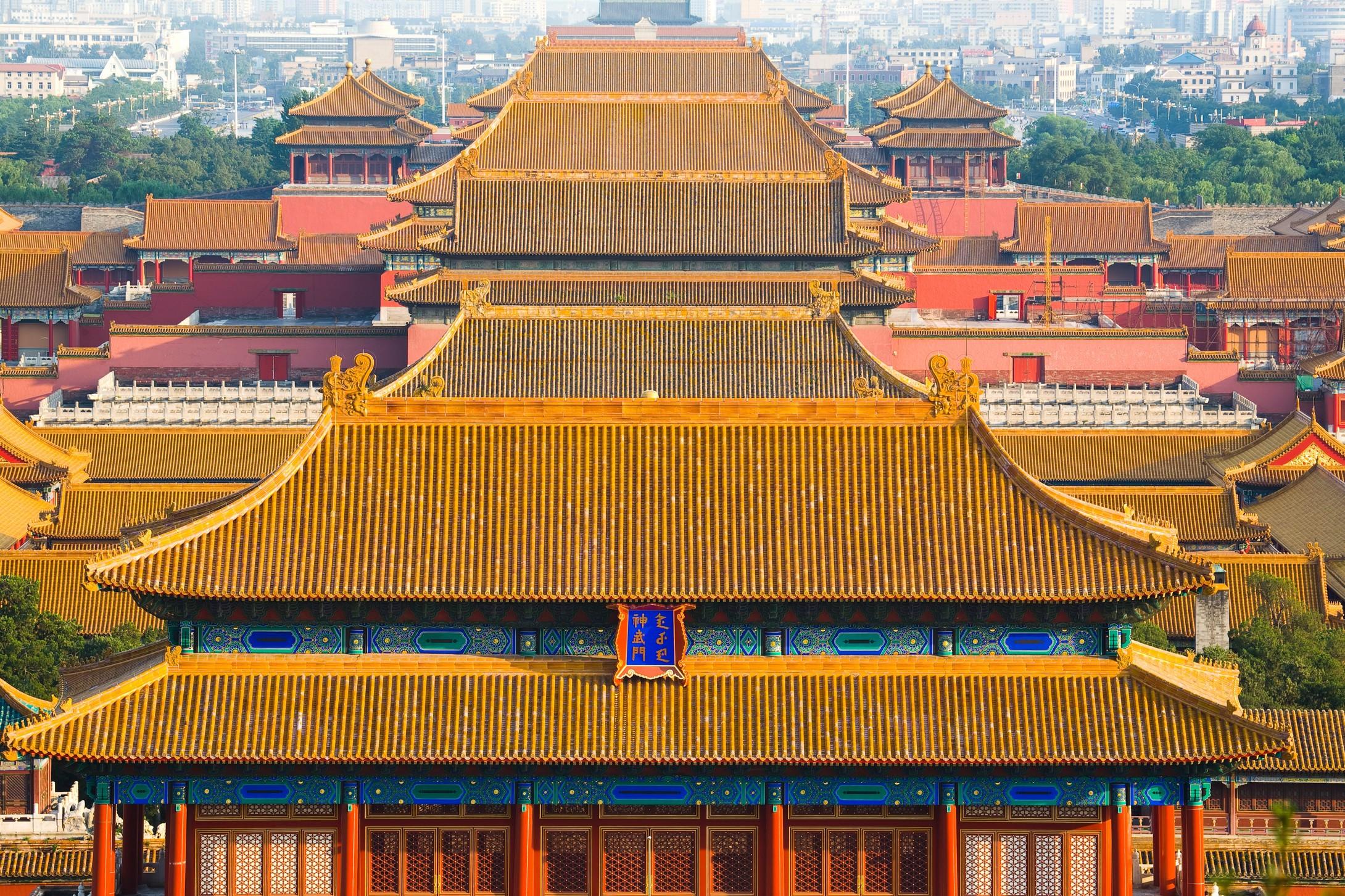 故宫建筑手绘彩绘