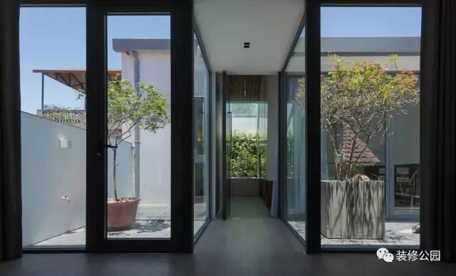 农村别墅屋顶改建,现代风格小平层,采光好有庭院