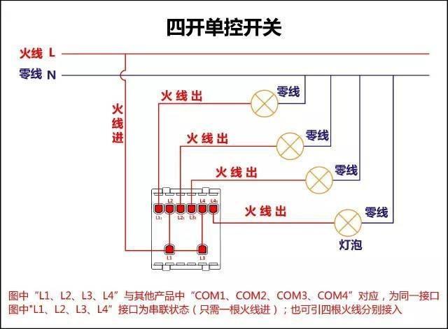 装修必备|最全开关接线图(单控,双控,三控)