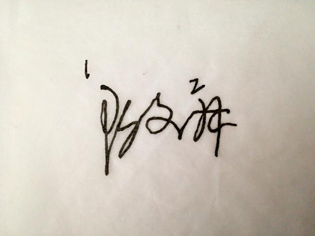 期 艺术签名各笔画都有内在联系, 形体皆美