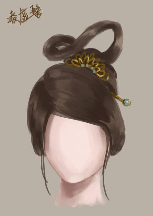 灵蛇髻 图片