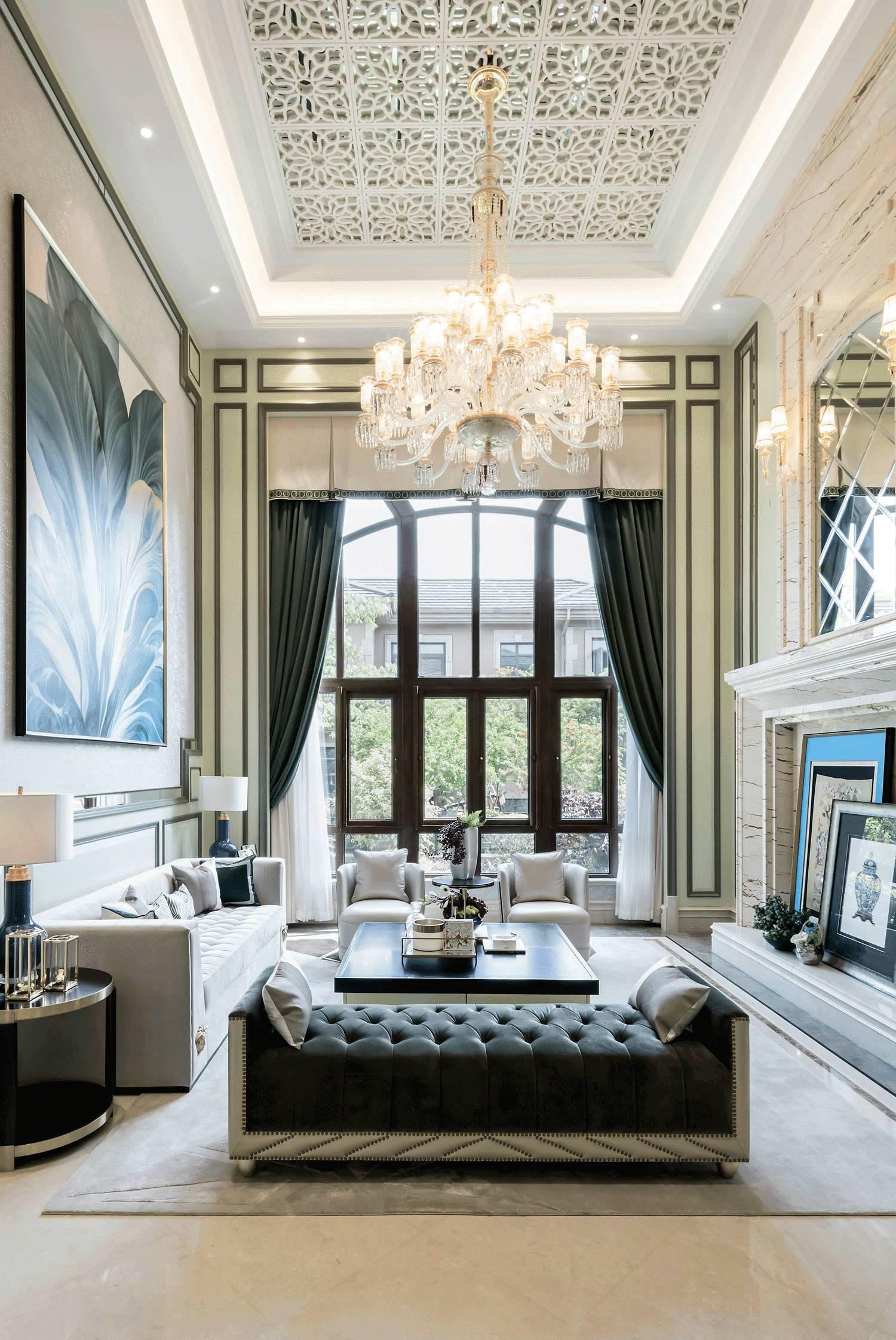 加入金属色的新中式,绝对不是你想象的普通房子!图片