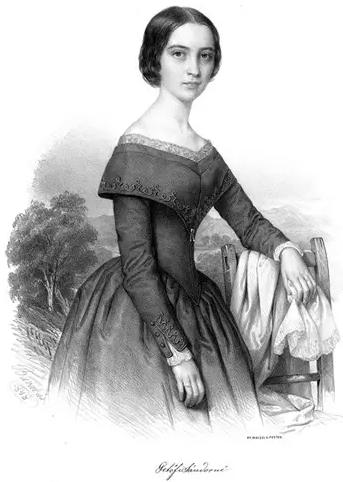 裴多菲妻子尤丽亚的画像