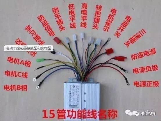 电动车控制器接线图,线路图和接线方法大全!