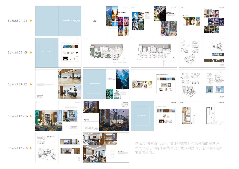 室内设计作品集案例解析(二)老师v案例赵字体图片