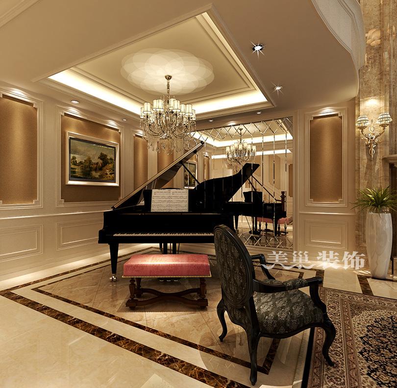 郑州260平别墅装修效果图,欧式奢华的生活空间