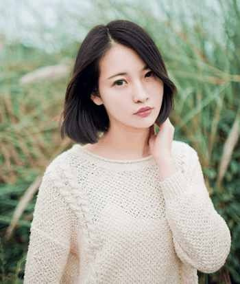 流行长脸美女们可以剪的时尚短发发型图片