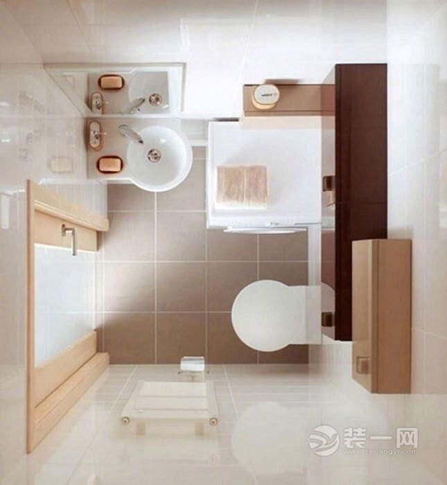 卫生间装修实用经验 9款小户型卫生间装修鸟瞰图