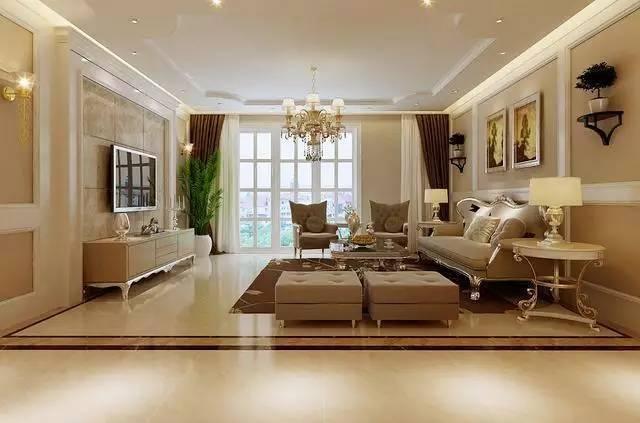 客厅高档大气,大气的吊顶设计,华丽的欧式家具,提高着整个客厅的档次.图片
