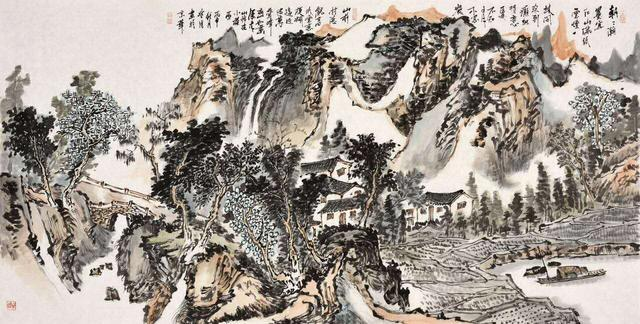 刘兆鸿巨幅长卷壁画作品被北京南苑机场收藏并悬挂图片