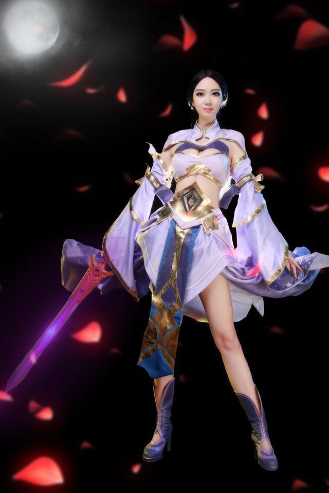 少女漏b艺术_美少女cosplay 王者荣耀cosplay:露娜的剑舞