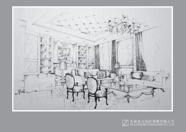 1部分手绘作品 △总经理茶室 △手绘构思 △主卧 曾获奖项 国际金创意