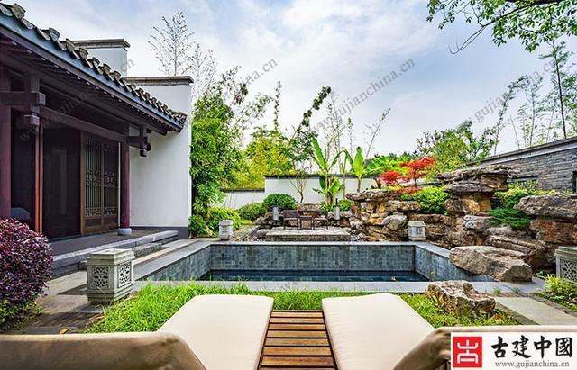 中式别墅庭院设计,太美了!图片