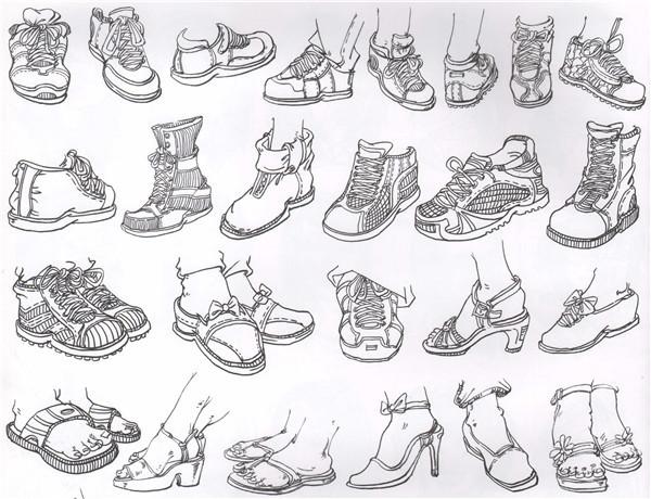 美术联考-速写的脚部结构与画法