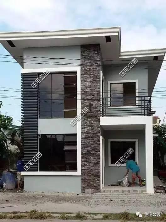 7X10米二层农村别墅,建成后比效果图美
