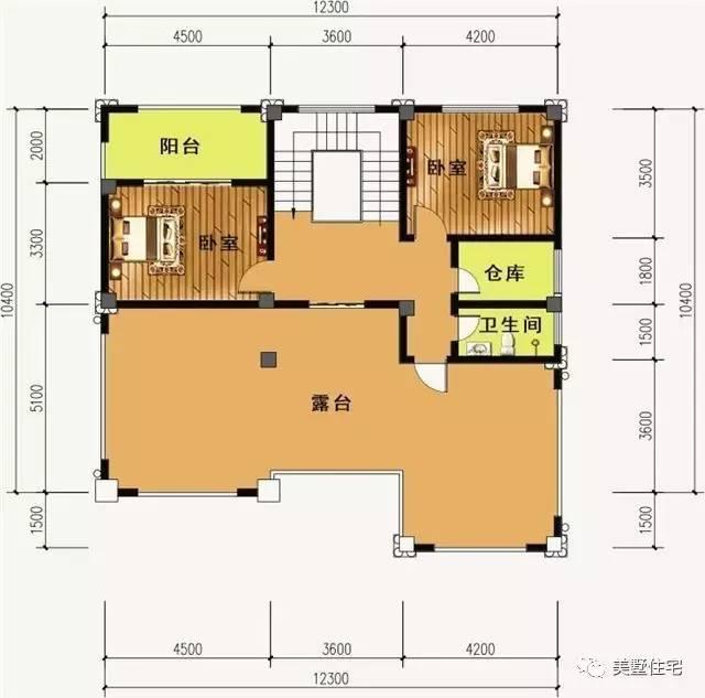 一间三层房设计图