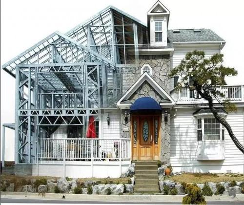 高大上的绿色住宅—轻钢结构3d喷印复合墙体别墅
