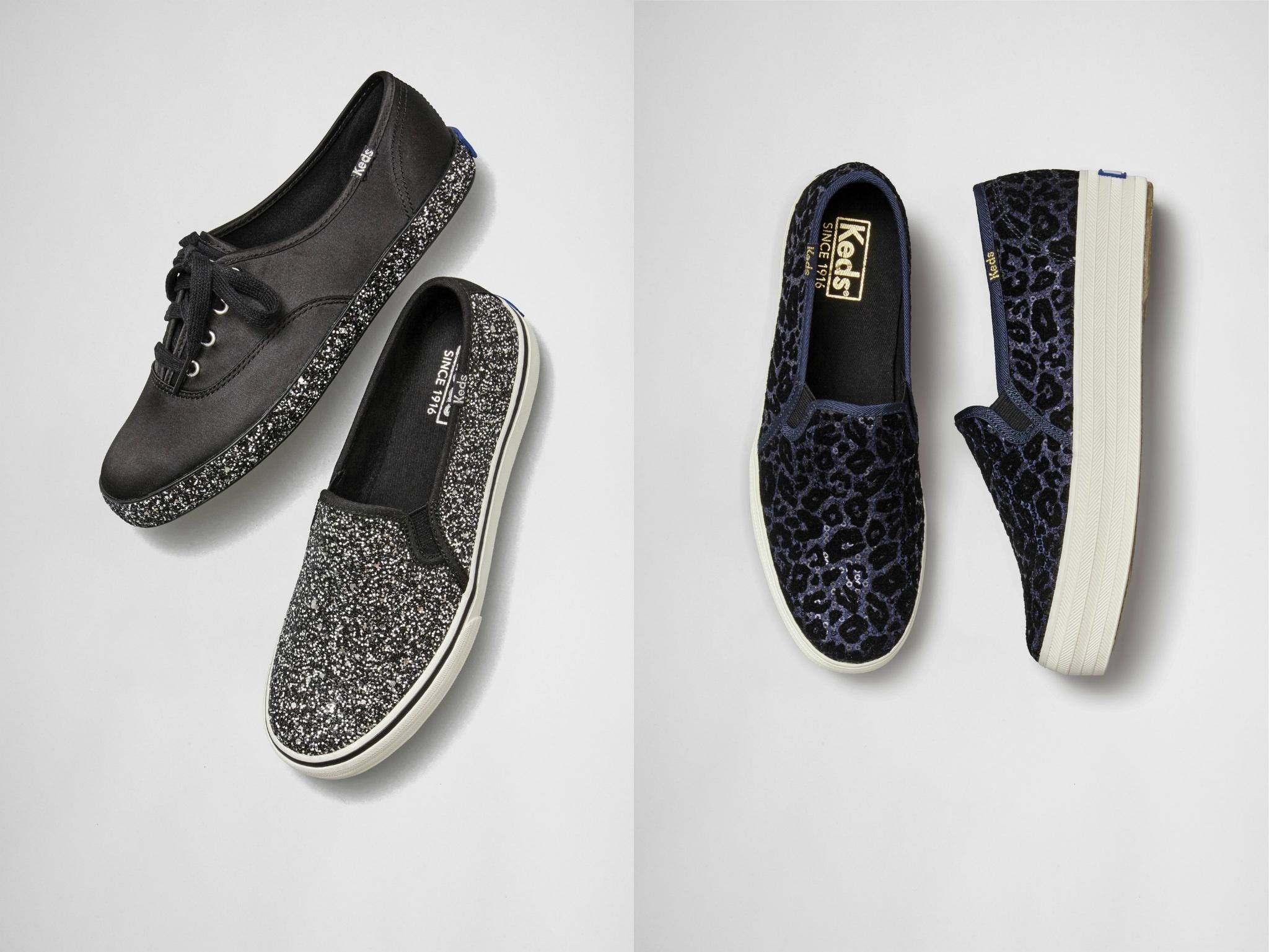 经典的鞋款,换上时尚粗花呢格纹面料,交织金属色系织线,内敛沉稳中透