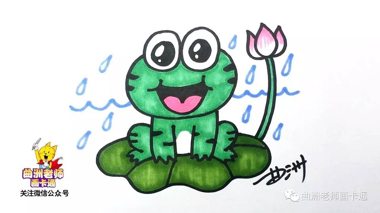 简笔画,一分钟教小朋友画出小青蛙