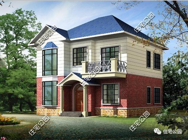 小型别墅屋顶蓝色