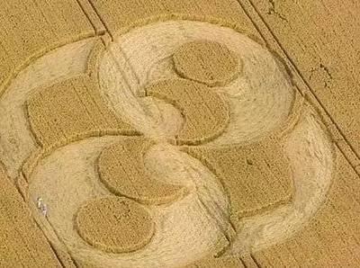 """规律的巨形图案,因主要在麦田中出现,故称""""麦田圈"""".-神秘新"""
