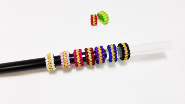 手工红绳编织,平结线圈编法图解