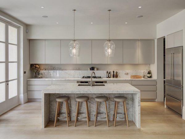 厨房设计必须要有个性,8款大理石厨房,美图片