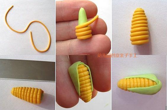 粘土香蕉切片教程图解