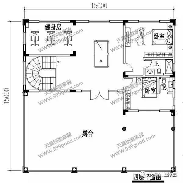 农村15x15米三层半别墅,大气时尚,农村建房首选