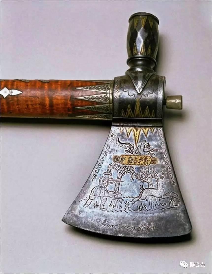 它是斧头中的精品,美洲土著的近战武器,威力无比