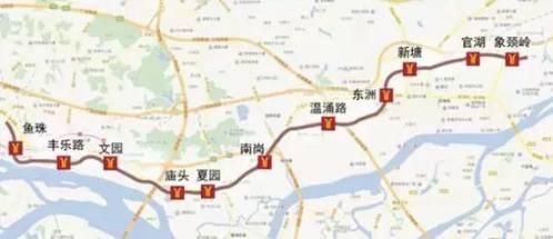 地铁13号线年底试运营 主要经过黄埔区,增城 线路起始于黄埔鱼珠站图片