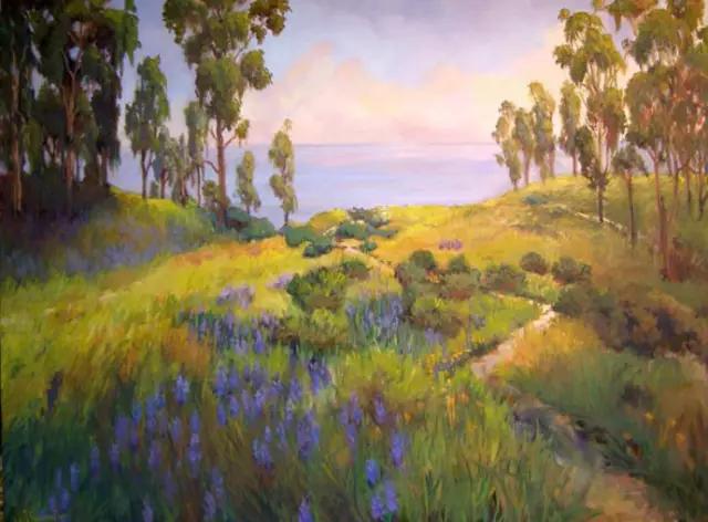 风景油画 美女艺术家ellie freudenstein