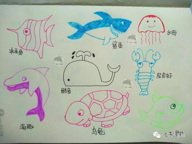 超简单的基础简笔画,快来和孩子一起学习吧