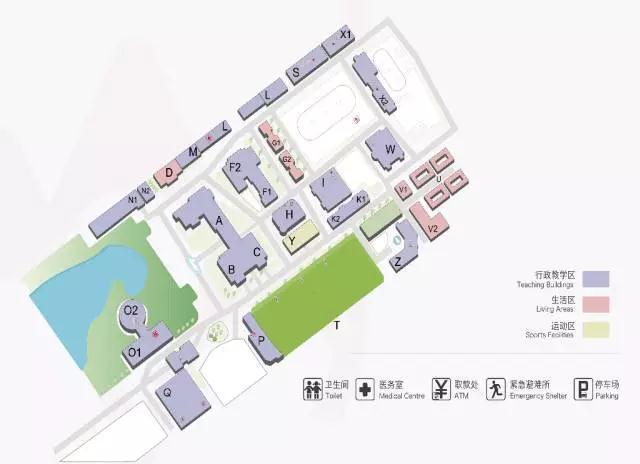 爱迪学校校园平面图