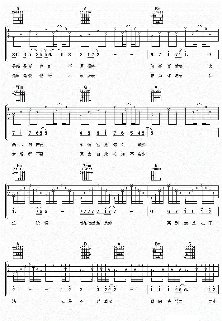 返回搜             求谭咏麟《一生中最爱》的吉他谱只是吉他谱吗