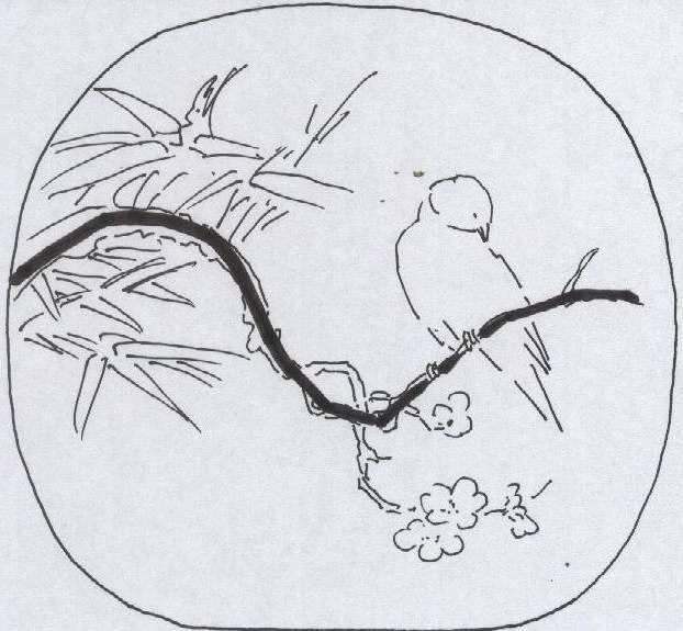 宋代的折枝花鸟画,竟有构图方程式