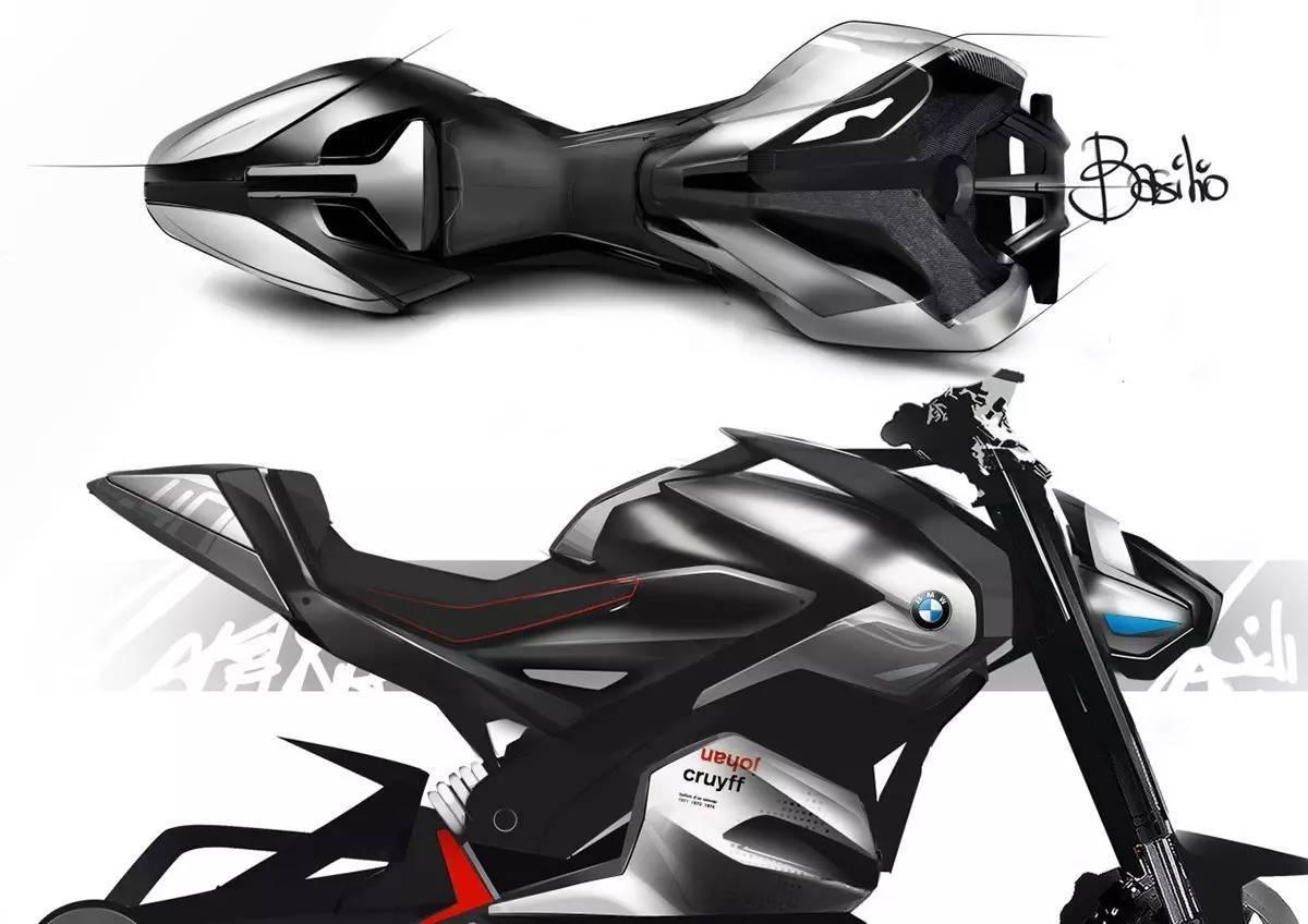 摩托车设计手绘图