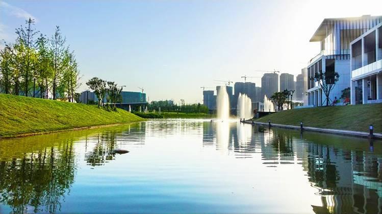 未来河湾发展手绘图片