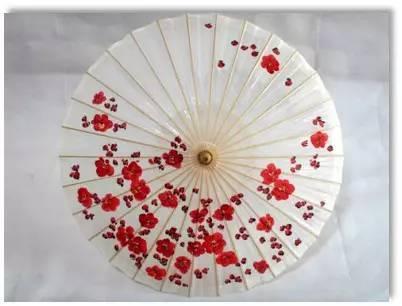 手绘油纸伞&纽扣花制作活动   我们幼儿园六一儿童节要手绘纸伞图片