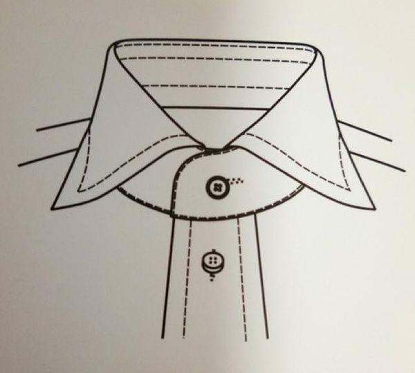 衣领款式图手绘