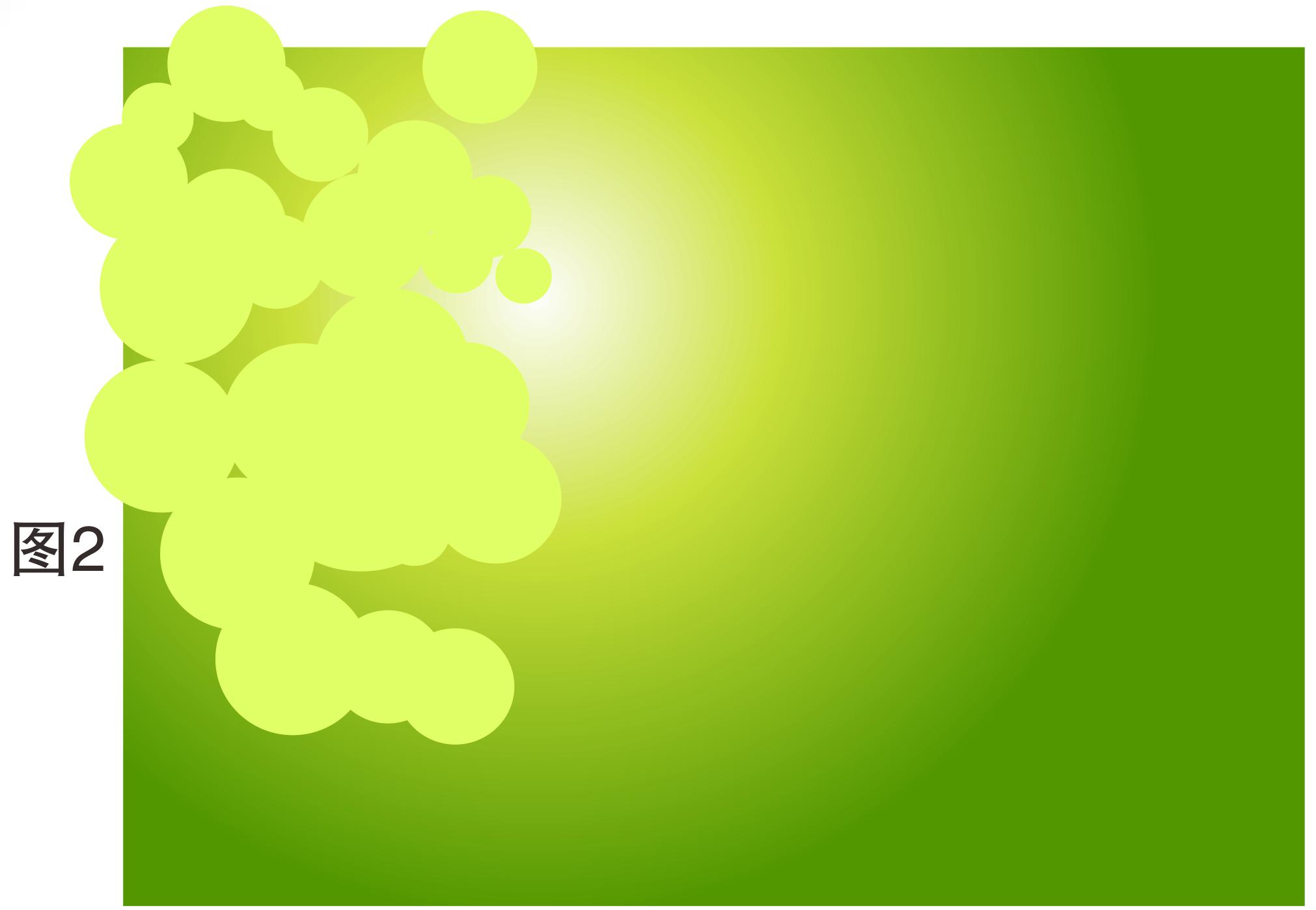 .选用工具箱的圆工具绘制出上图2多个圆,做出的一些重叠效果-用