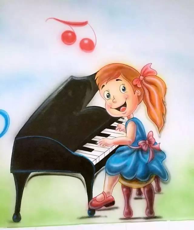 浇花的小女孩,弹钢琴的小女孩出现在我们面前.
